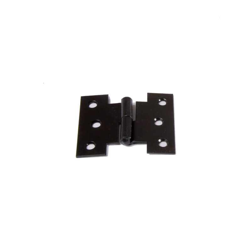 Closeup of Light Duty H Style Lift Off Hinge with black powder coating.