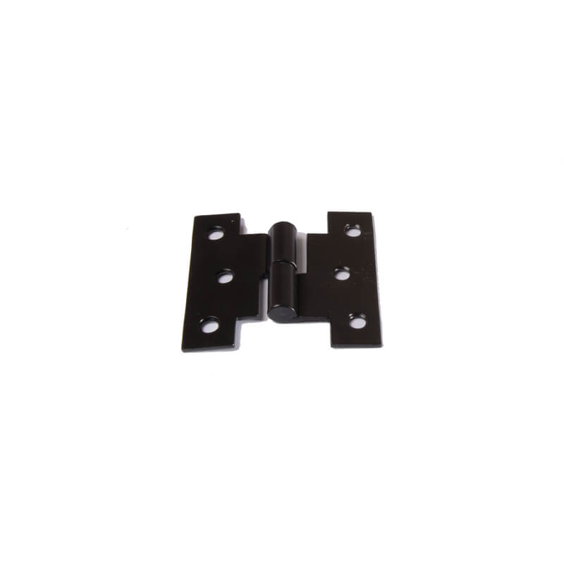 Closeup of Heavy Duty H Style Lift Off Hinge with black powder coating.