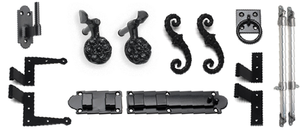 Image of Exterior Shutter Hardware with black powder coating