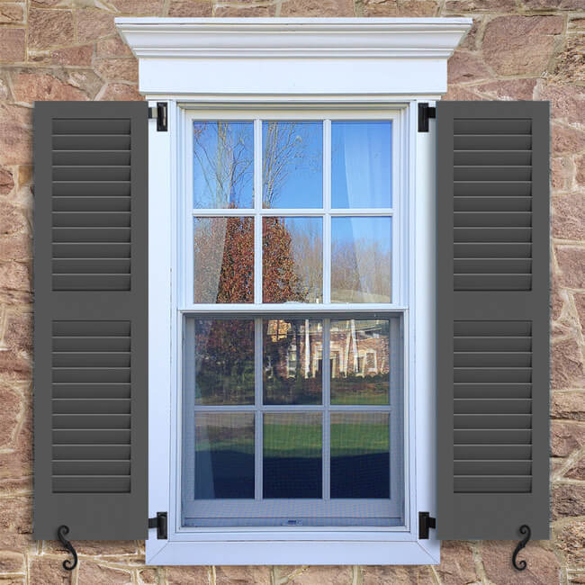 SW1 Fixed Louver Shutter   Exterior Louver Shutters   Timberlane Store