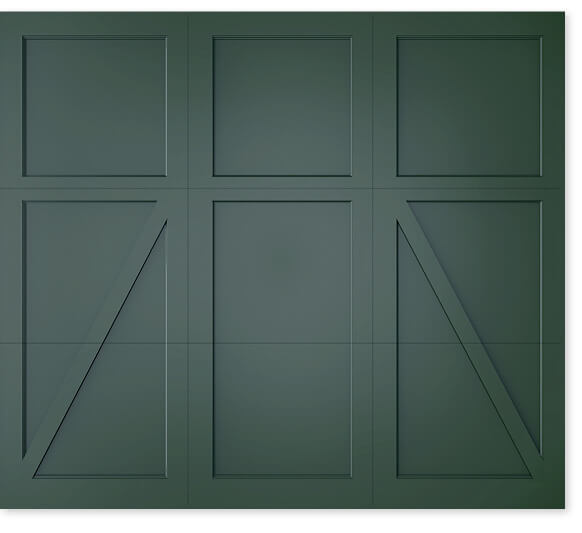 full image of Timberlane's 403 trifold garage door style