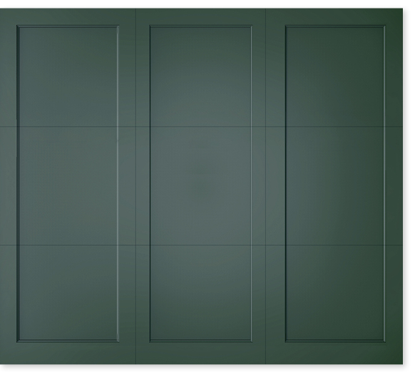 full image of Timberlane's custom trifold garage door style