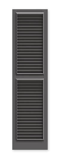 full image of Timberlane's TR1 fixed louver shutter