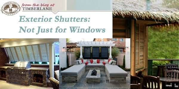 Alternative Uses For Exterior Shutters Timberlane Style Blog