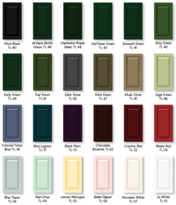 Timberlane Paint Card What Colors Can My Shutters