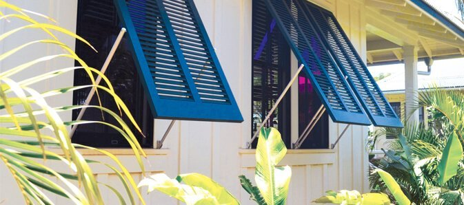 blue bahama shutter