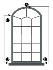 how to measure radius top window