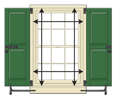 How To Measure For Exterior Shutters Timberlane Shutter Experts