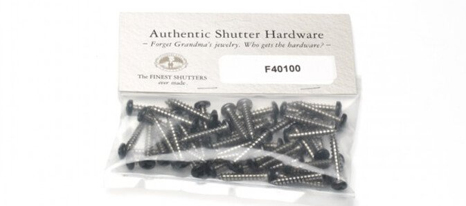 hardware for installing exterior shutters