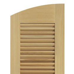 Louver shutter solid radius top