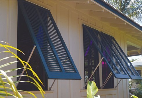 Bermuda shutters for added style breeze and shade timberlane for Bermuda style exterior shutters