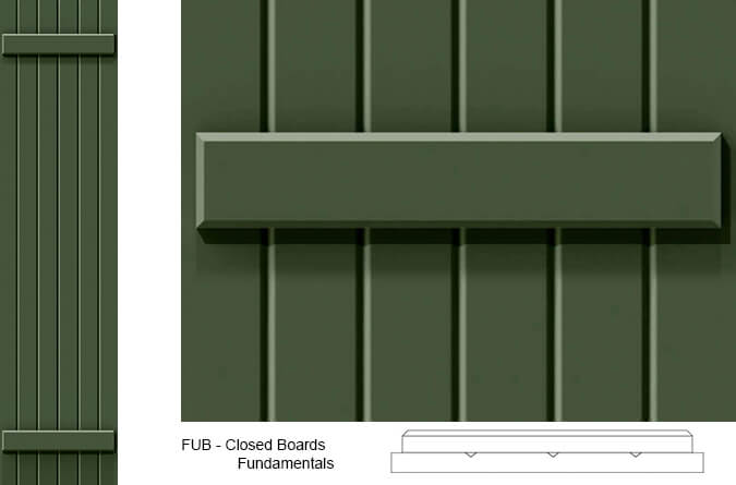 FUB Board and Batten Exterior Shutters - FUB