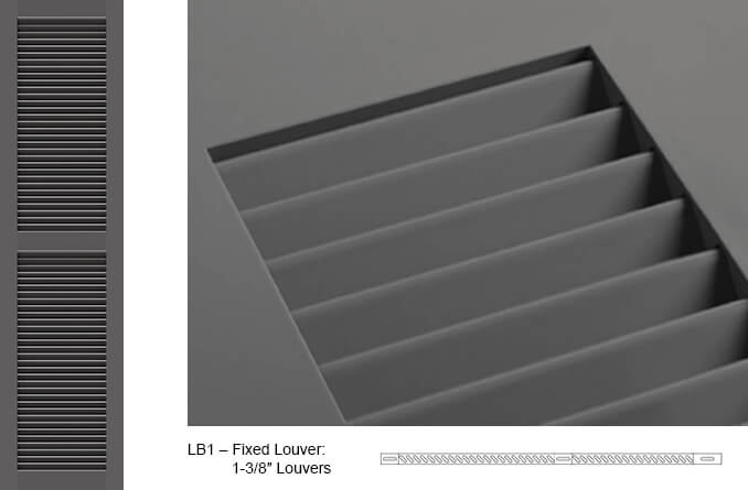 LB1 Fixed Louver Shutter