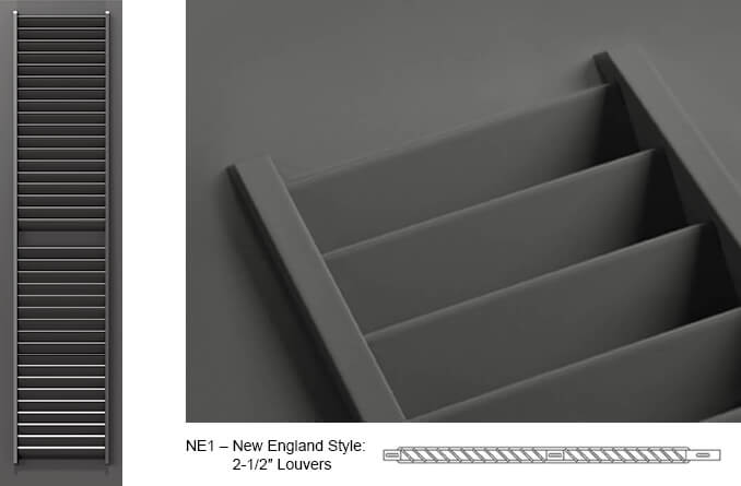 NE1 Fixed Louver Shutter