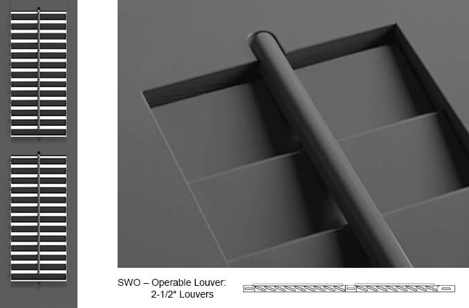 SWO Operable Louver Shutter