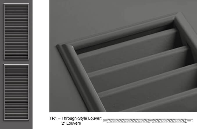 TR1 Fixed Louver Shutter