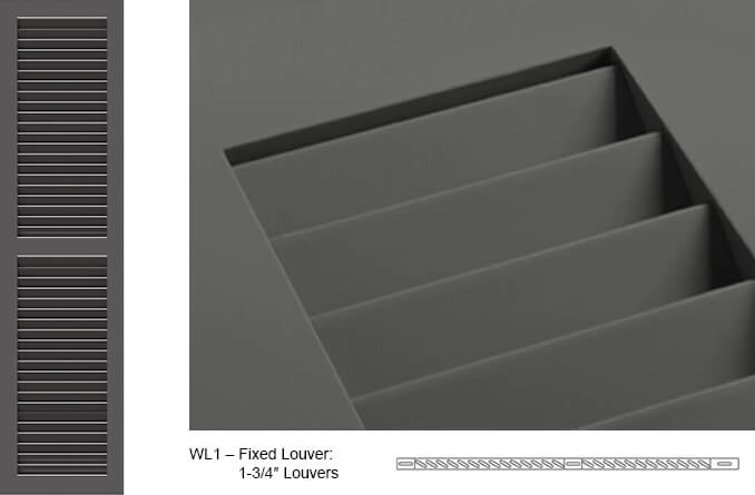 WL1 Fixed Louver Shutter