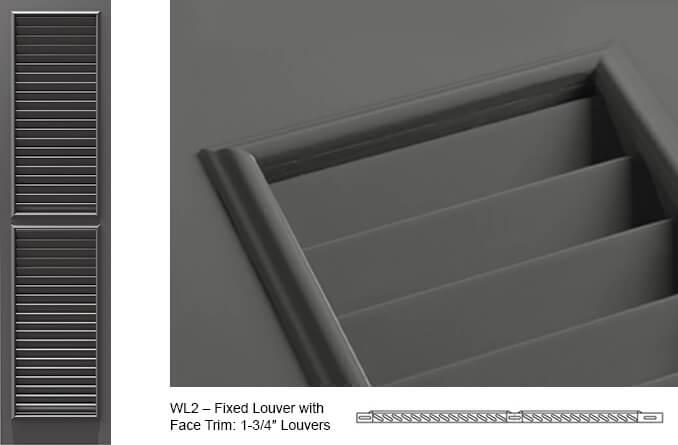 WL2 Fixed Louver Shutter