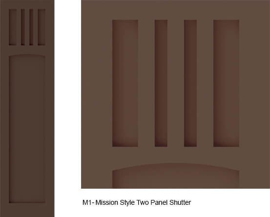 Mission Style Exterior Shutters - M1