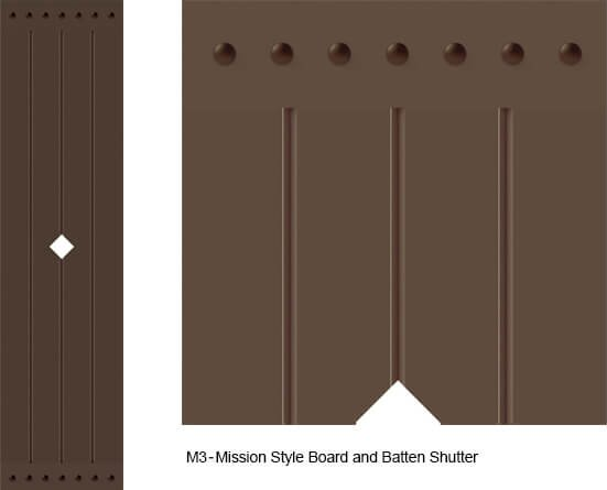 Mission Style Exterior Shutters - M3