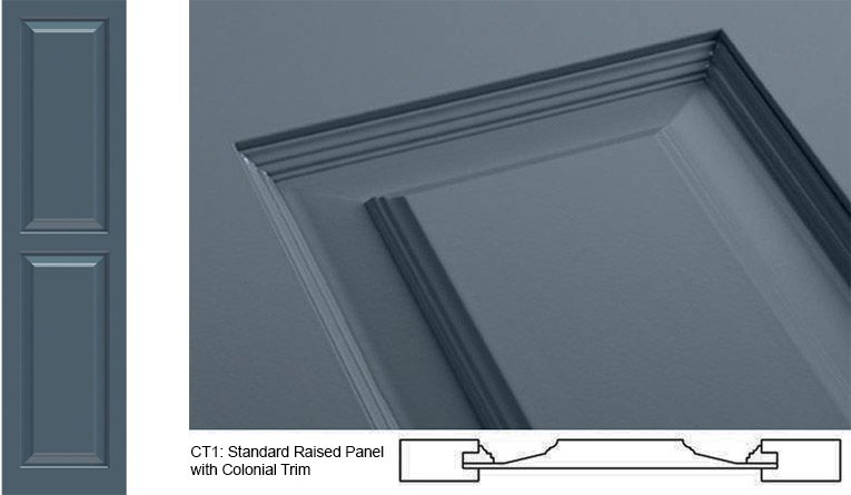 Panel Style Exterior Shutters - CT1