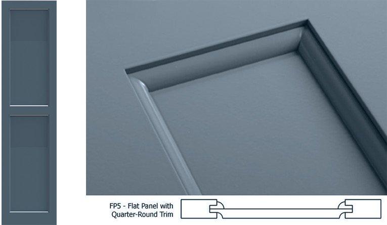 Fp5 Flat Panel With Quarter Round Trim