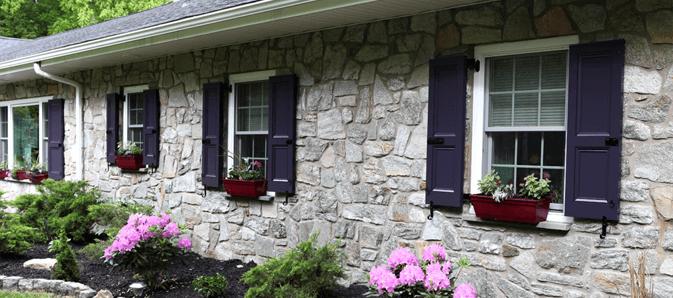 purple exterior shutters