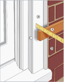 measure exterior hardware diagram