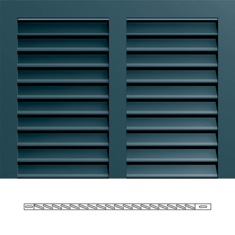 Bs5 4 louver sections without trim timberlane for Bermuda style exterior shutters