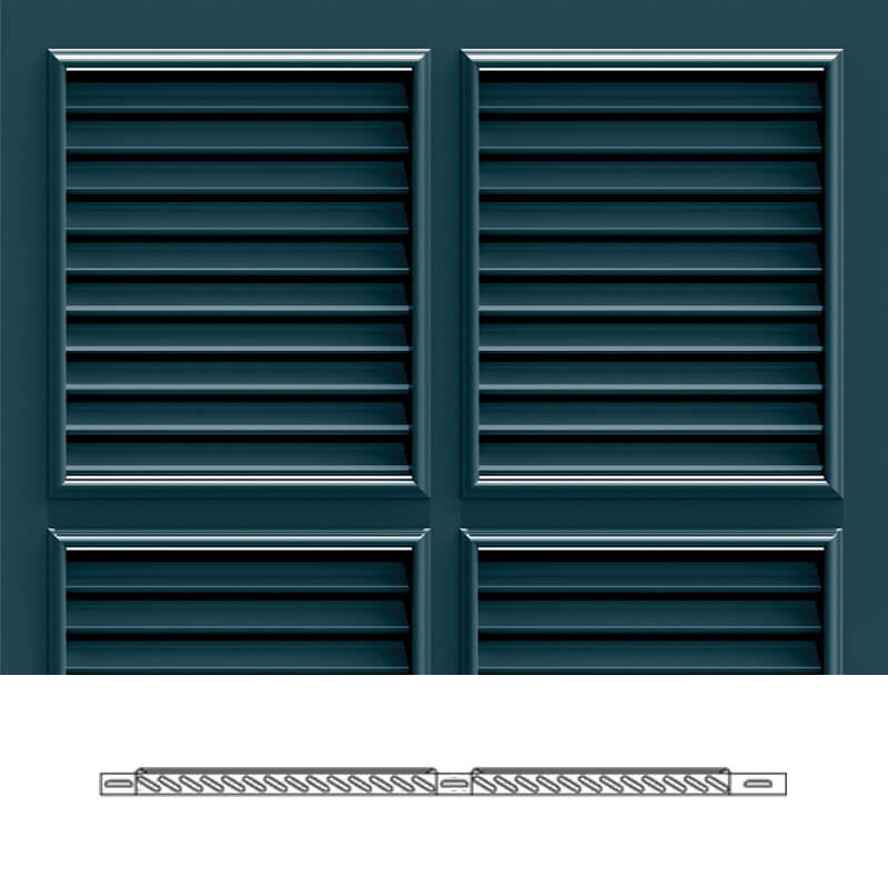 Bs2s bermuda shutter profile 1 3 4 louvers timberlane for Bermuda style exterior shutters