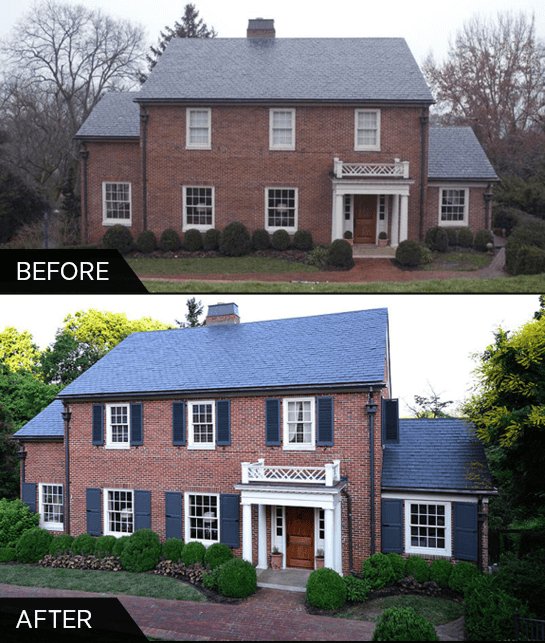 Before And After Exterior Shutters Shutter Gallery Timberlane Shutters