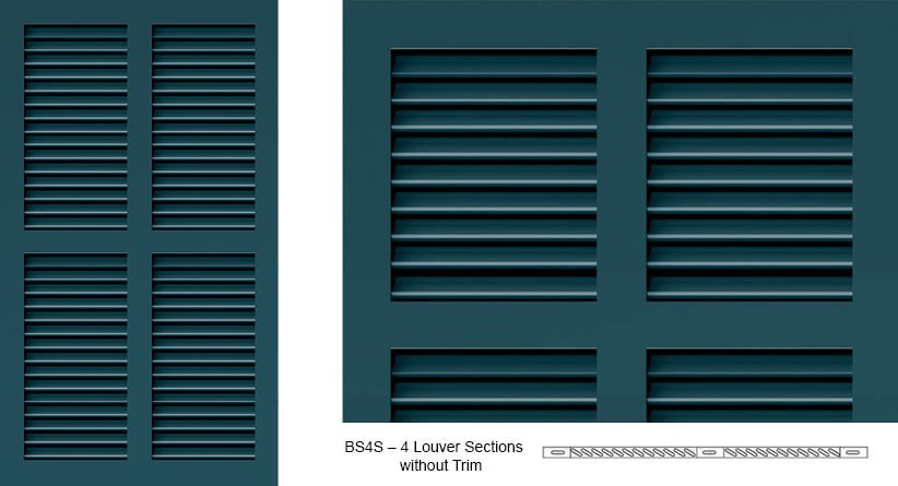 BS4S Bermuda Shutter Profile