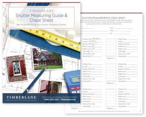 Image of cover of Shutter Measuring Guide & Cheat Sheet