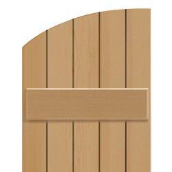Board & Batten shutter solid radius top