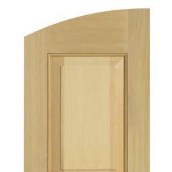 Panel shutter solid radius top
