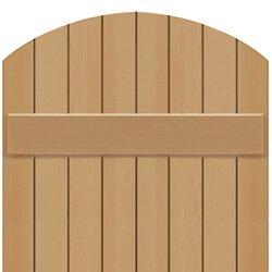 Board & Batten shutter tombstone radius top