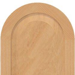 Panel shutter tombstone radius top