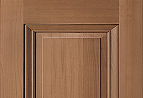A stained Timberlane premium wood shutter profile