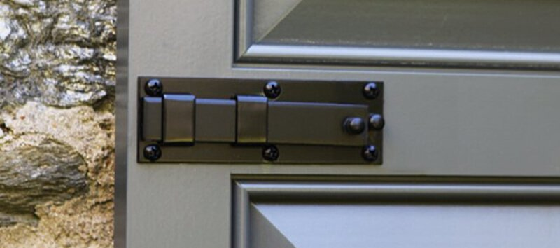 Exterior shutter locks hardware