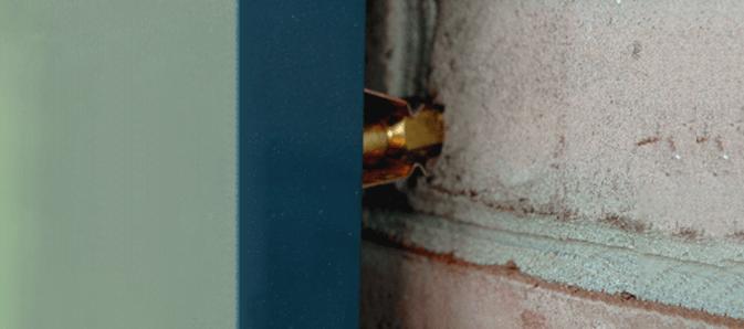 Exterior shutter installation hardware