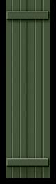 Green painted board & batten shutter profile