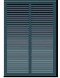 Blue painted bermuda shutter profile