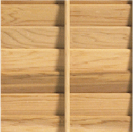 Timberlane wood shutter with small tilt rod