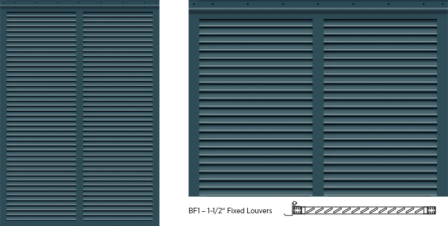 Bermuda Style Exterior Shutters - BF1