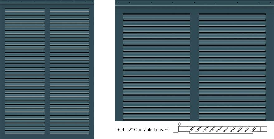 Bermuda Style Exterior Shutters - IRO1