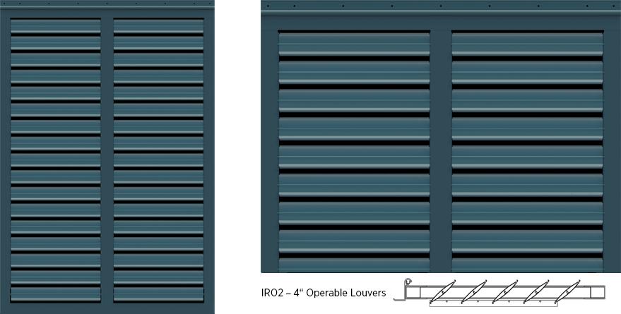 Bermuda Style Exterior Shutters - IRO2