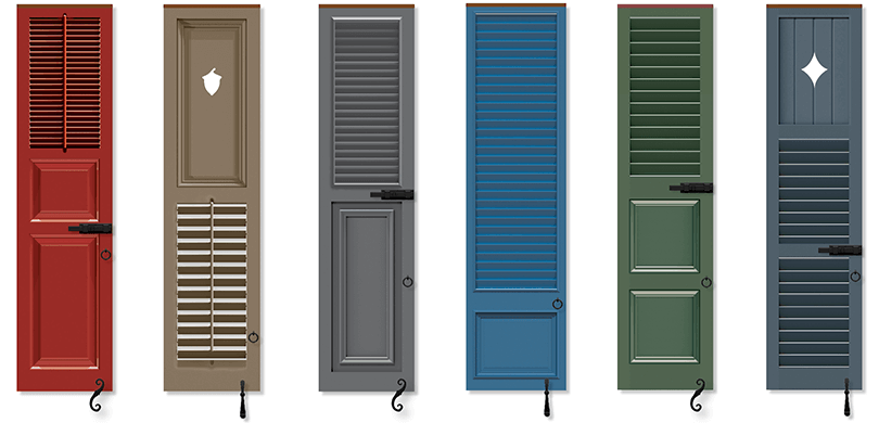 Timberlane offers multiple ways to combine panel shutters and louver shutters along with customization options
