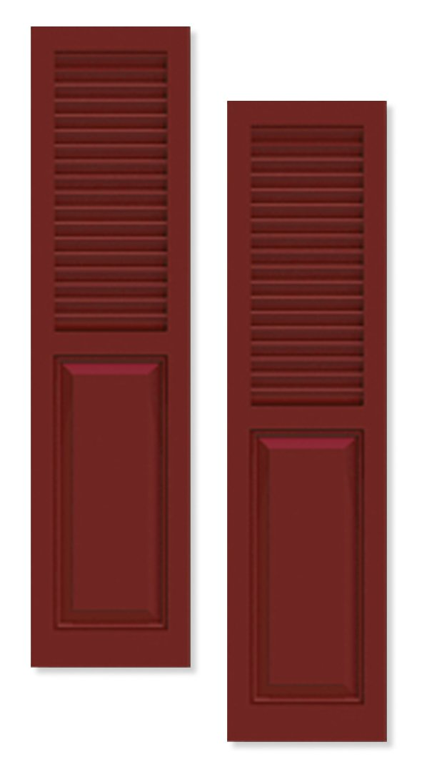 Timberlane's combination shutters mix panel and louver style shutters that are pure head-turners