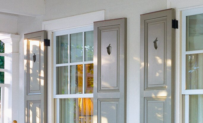 Timberlane's wide array of cutout designs are a great way to add personality to exterior shutters