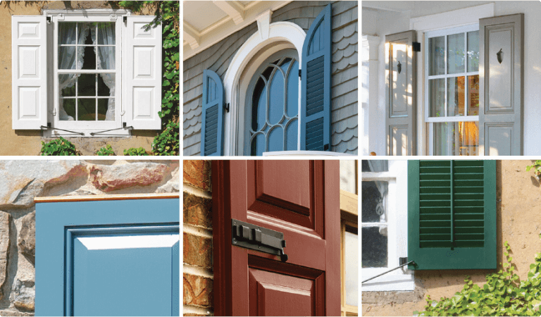 Timberlane offers copper capping, cutout designs, shutter hardware and more for exterior shutters